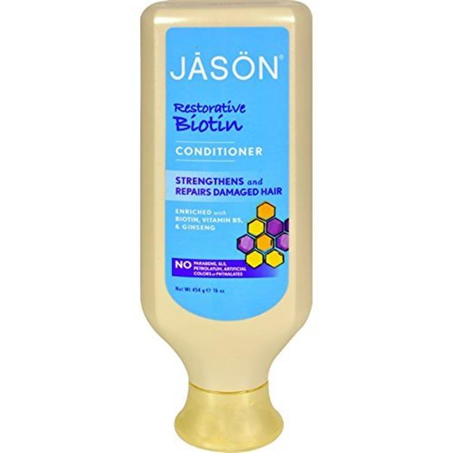 Jason Natural Products 0977405 Natural Restorative Biotin Conditioner, 16 fl oz
