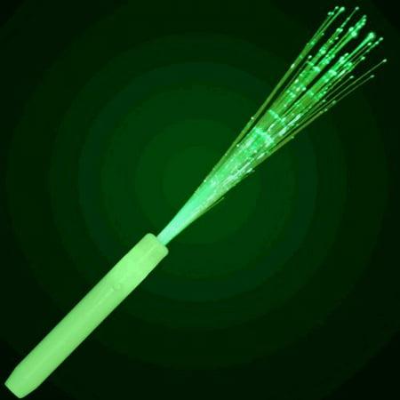 Green Fiber Optic Wands with Jade -