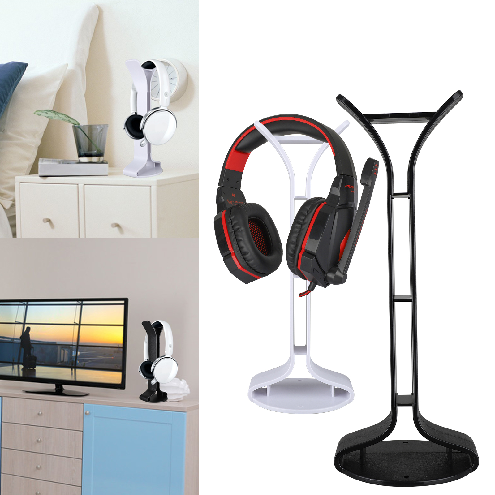 TSV Headphones Stand, ABS Desk Headset Holder Supporting