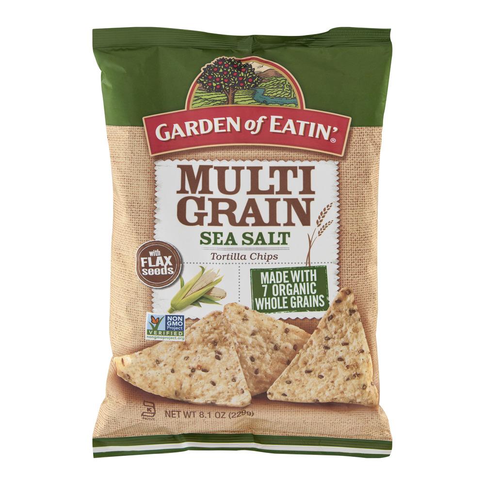 Garden of Eatin' Tortilla Chips Multi Grain Sea Salt, 8.1 OZ