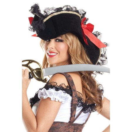 Pirate Hats For Women (Sexy Pirate Hat BW203 Black)
