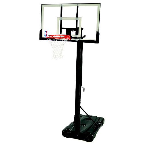"Spalding NBA Portable Basketball Hoop with 54"" Polycarbonate Backboard"