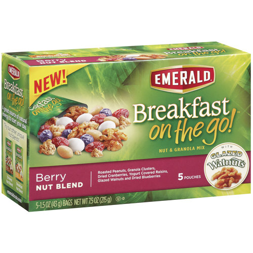 Emerald Breakfast on the Go! Berry Nut Blend Nut & Granola Mix, 5-Pk