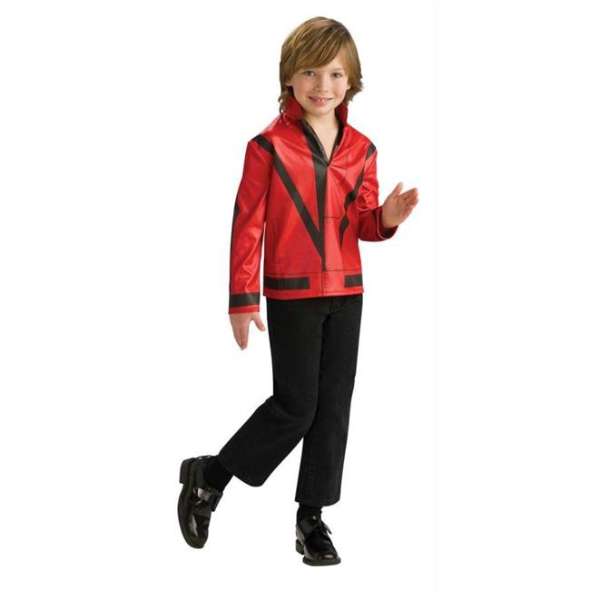 Costumes For All Occasions Ru884242Md Mj Red Thriller Jckt Child Md