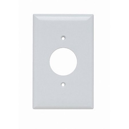 Pass and Seymour SPJ7-W White Junior-Jumbo Single Gang Single Receptacle Wall Plate