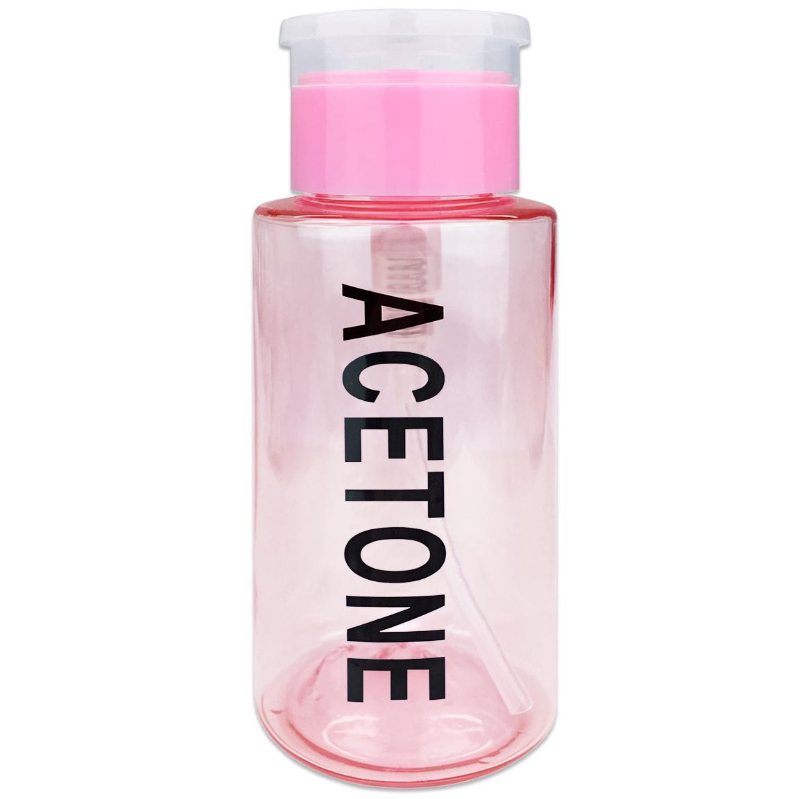 Pana High Quality 7oz Liquid Pump Dispenser With Acetone Label - Teal
