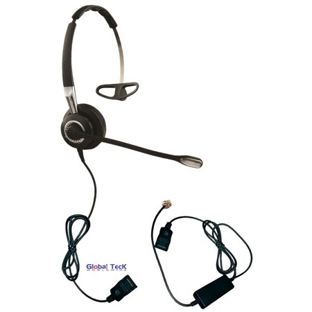 Jabra Biz 2470 3 In 1 Ultra Noise Canceling With Smart Cord   Use With Cisco  Grandstream  Mitel  Shoretel  Nortel  Nec  Toshiba  Polycom  Yealink And More