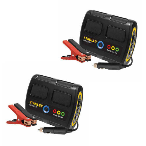 Stanley 'Simple Start' Battery Charger/Jump Starter. 2 Pack Bundle Offer