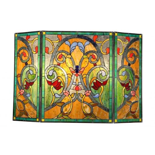 Chloe Lighting Chloe Tiffany-style Victorian Design Fireplace Screen by Overstock