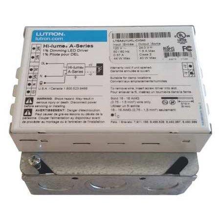 LED Driver, 5 to 40W, 12VDC, 120VAC, 400 mA LUTRON