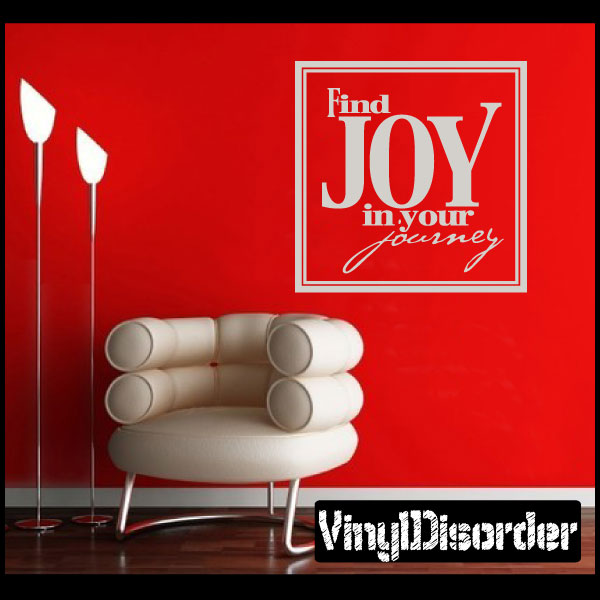 Find joy in your Journey Love & Laughter Vinyl Wall Decal Sticker Mural Quotes Words HJ005FindjoyVI 36 Inches
