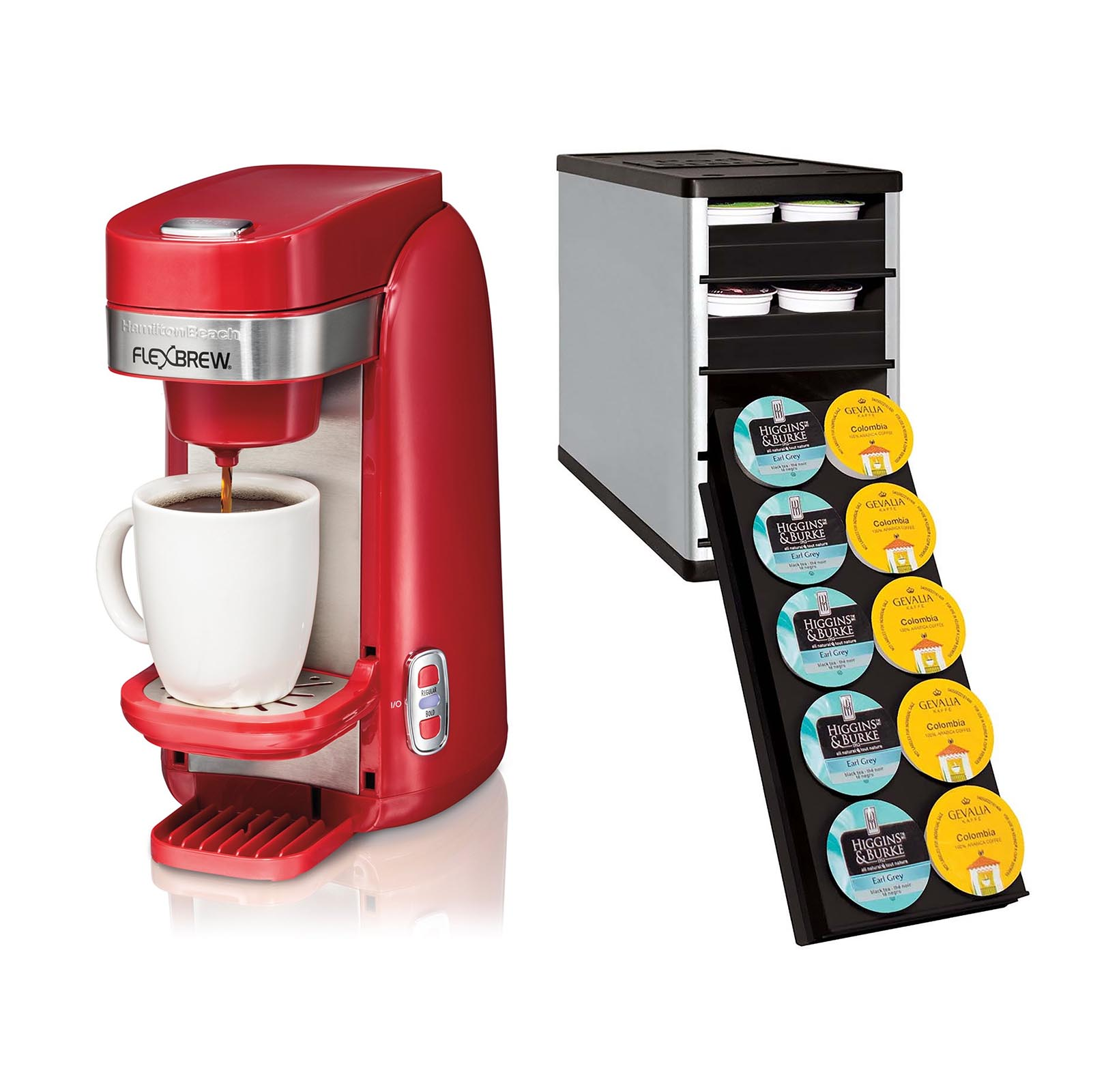 Hamilton Beach FlexBrew Single Serve K-Cup Compatible Cof...