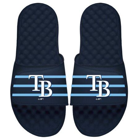 Tampa Bay Rays ISlide Youth MLB Stripe Slide Sandals - Navy