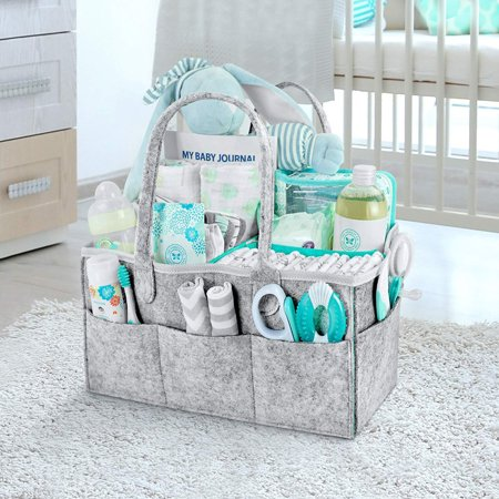 Baby Diaper Caddy Organizer Nursery Storage Bin For Diapers With Changeable Compartments