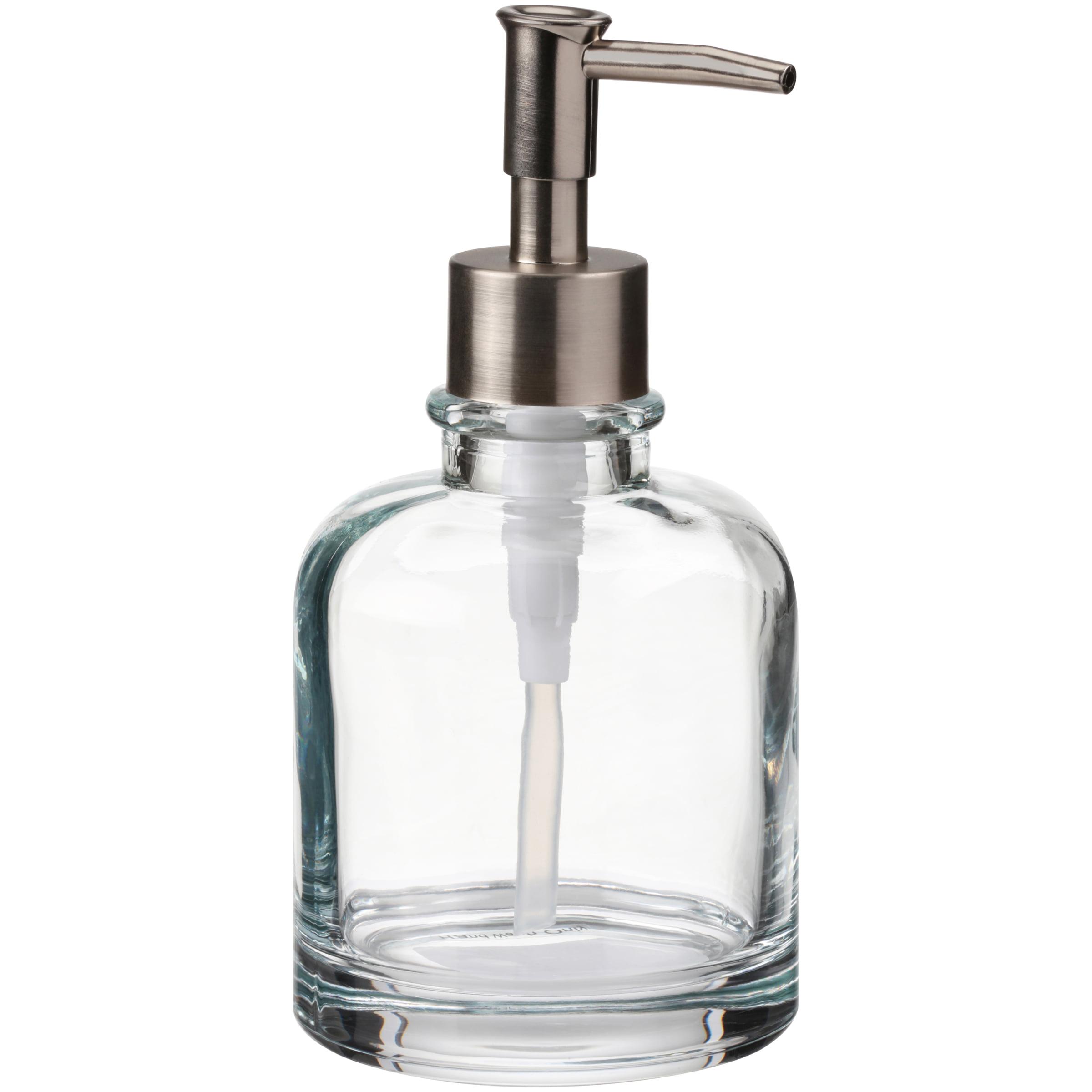 Short Glass Pump Soap Dispenser