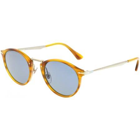 e392a7b0fc95c Persol - Persol Men s Calligrapher PO3166S-960 56-49 Brown Round Sunglasses  - Walmart.com