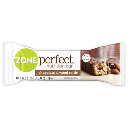 ZonePerfect Nutrition Bar, 15 Grams of Protein, Chocolate Almond Raisin, 1.76 Oz, 5 Ct