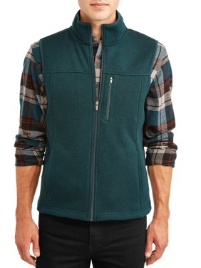 George Men's Sweater Fleece Vest, up to Size 5XL