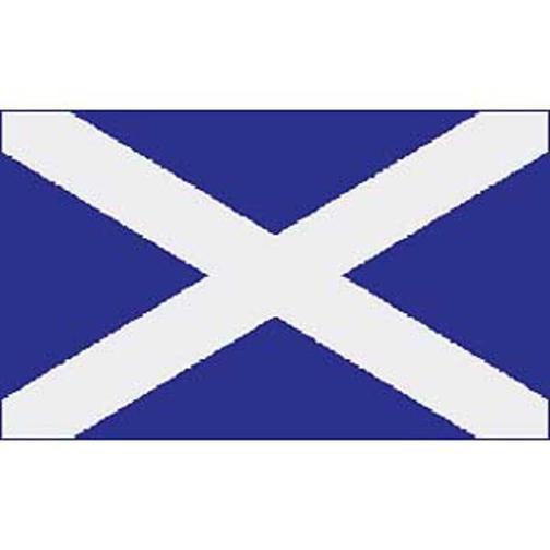 "Scotland St. Andrews Flag On Stick 4"" x 6"