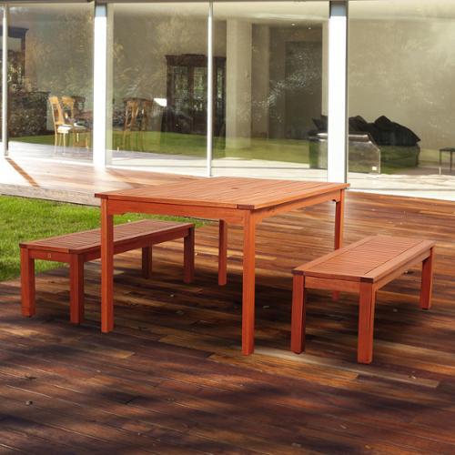 Amazonia  Padua 3-piece Eucalyptus Rectangular Patio Dining Set