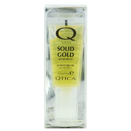 Solid Gold Supplements (Nail Supplements: Qtica Solid Gold Cuticle Oil Gel (Size : 0.50)