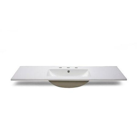 Ryvyr CST490 3 49 Vitreous China Vanity Top with Sink Included