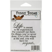Riley & Company  Funny Bones Cling Mounted Stamp 2.5inX2.5inNo Regrets