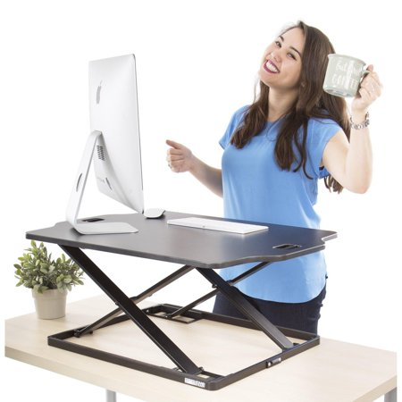- X-Elite Pro Glide Standing Desk - Instantly Convert Any Surface to a Stand up Desk! Large Sit to Stand Desk Converter! Strong & Sturdy! (31 x 21)