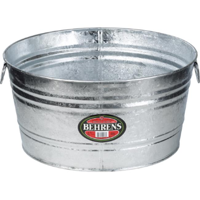 Arett Sales B54 2X 15 gal Hot Dipped Round Tub