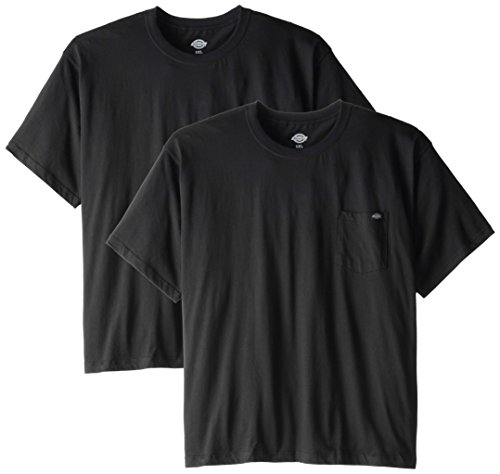 Dickies Men's Short Sleeve Pocket T-Shirts Two-Pack, Black, 5X