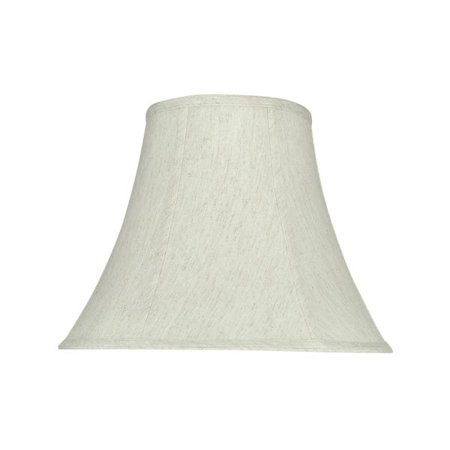 Aspen Creative 58052 Transitional Bell Shape Uno Construction Lamp Shade In Linen White 14 Wide 7 X 11