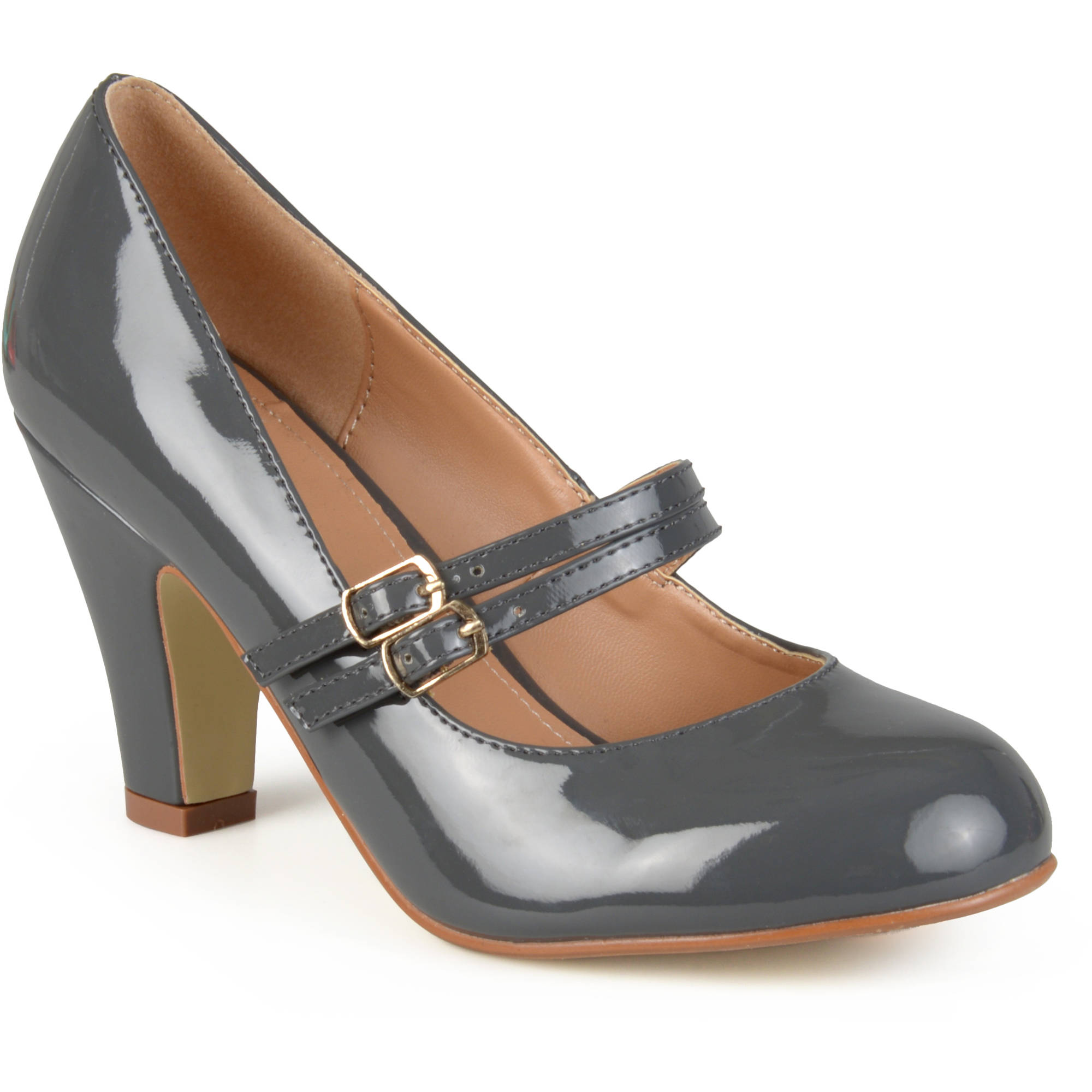 Brinley Co Womens Mary Jane Patent Leather Pumps