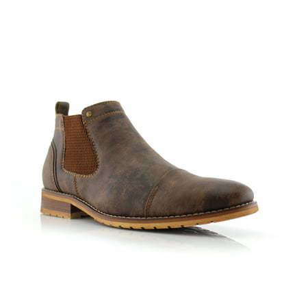 Ferro Aldo Sterling MFA606325 Brown Color Men's Slip On Casual Mid Top Shoes For Daily Wear ()