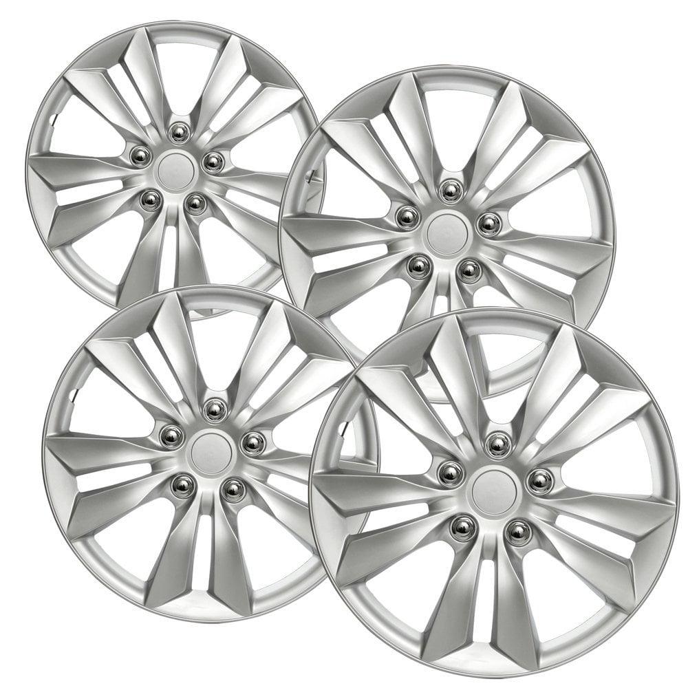 "OxGord 16"" inch Silver Wheel Covers for 2011-2014 Hyundai Sonata - Set of 4"