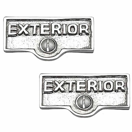 2 Switch Plate Tags EXTERIOR Name Signs Labels Chrome