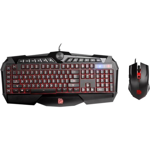 Thermaltake Challenger Prime RGB Membrane Gaming Gear Keyboard and Mouse Combo