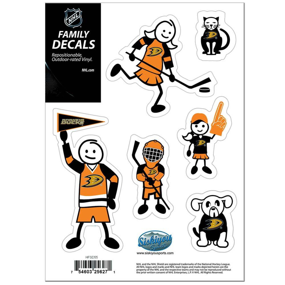 Anaheim Ducks Family Decal Set Small (F)