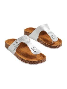 Annika Shimmer Thong Molded Footbed Sandal
