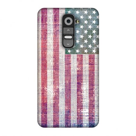 Designer Wood Earrings - LG G2 Case, Premium Handcrafted Printed Designer Hard Snap on Shell Case Back Cover with Screen Cleaning Kit for LG G2 D802 - USA flag- Wood texture