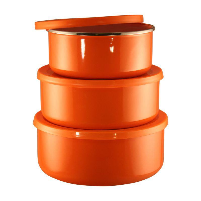 Calypso Basics, 6pc Bowl Set, Orange