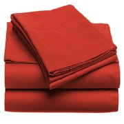 Solid 100GSM Luxury Microfiber Sheet Red -