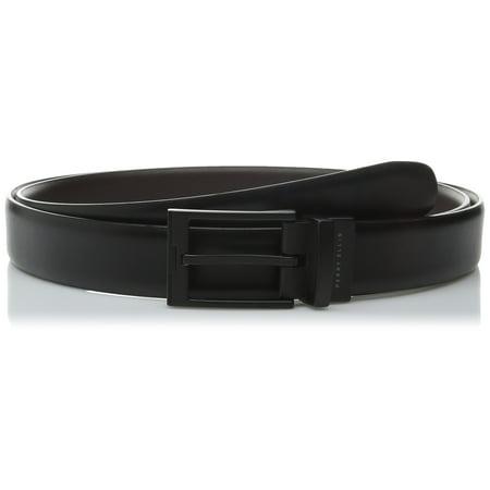 Perry Ellis NEW Matte Black Reversible Big Man 50 Portfolio Dress Belt