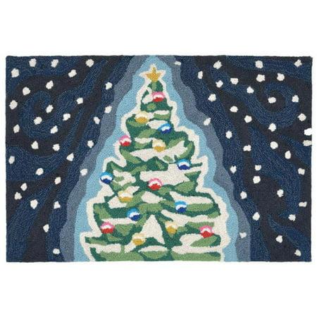 Trans Ocean FTP23184447 Frontporch Xmas Tree Midnight Pillow, 24 x 36 in.