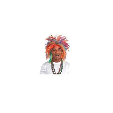 Amscan Game Ready Team Spirit Party Crazy Wig Accessory, 1 Pieces, Made from Polyester, Birthday/Celebration](Team Umizoomi Halloween Games)