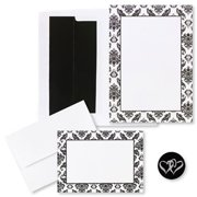 Masterpiece Studios 2150046 Black And White Damask Invitation And Note Card Kit