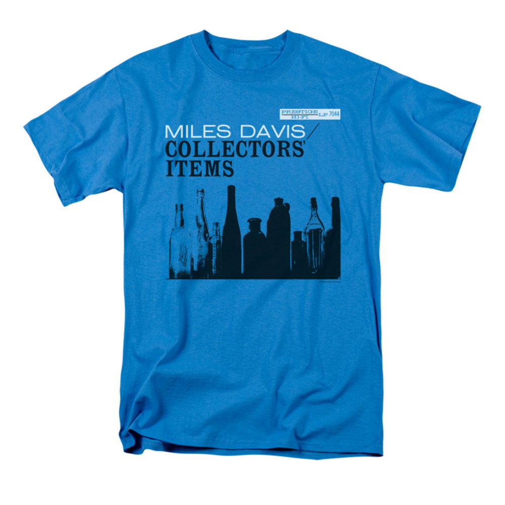Miles Davis Men's  Collector's Items T-shirt Turquoise