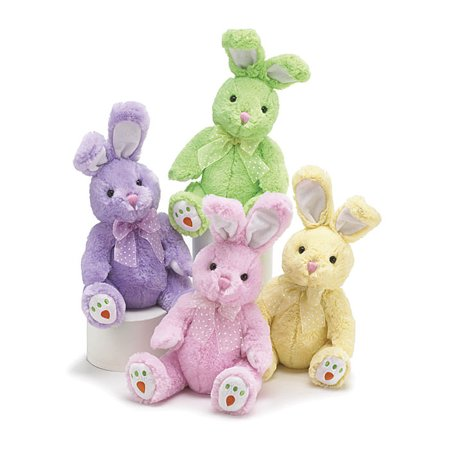 Easter Bunny with Embroidered Carrot Feet 14 Inch Plush Toy (Assorted Colors) - Bugs Bunny Feet