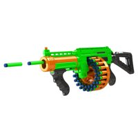 Adventure Force Villainator Submachine Pump-Action SuperDrum Dart Blaster - Compatible with NERF