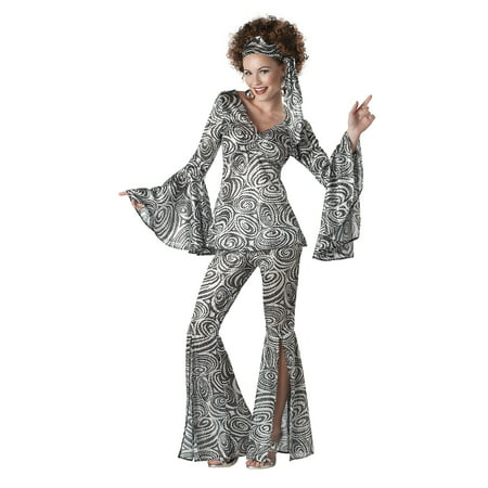 Plus Size Women's Foxy Lady Disco Costume (Plus Size Disco Dress)