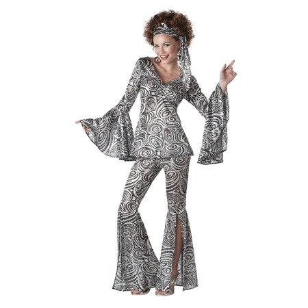 Plus Size Women's Foxy Lady Disco Costume](1970s Disco Costume)
